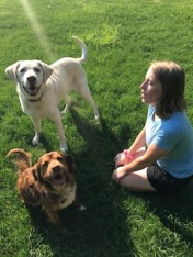 Kella with Copper and Tucker.