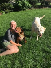 Kaylee with Copper and Tucker.